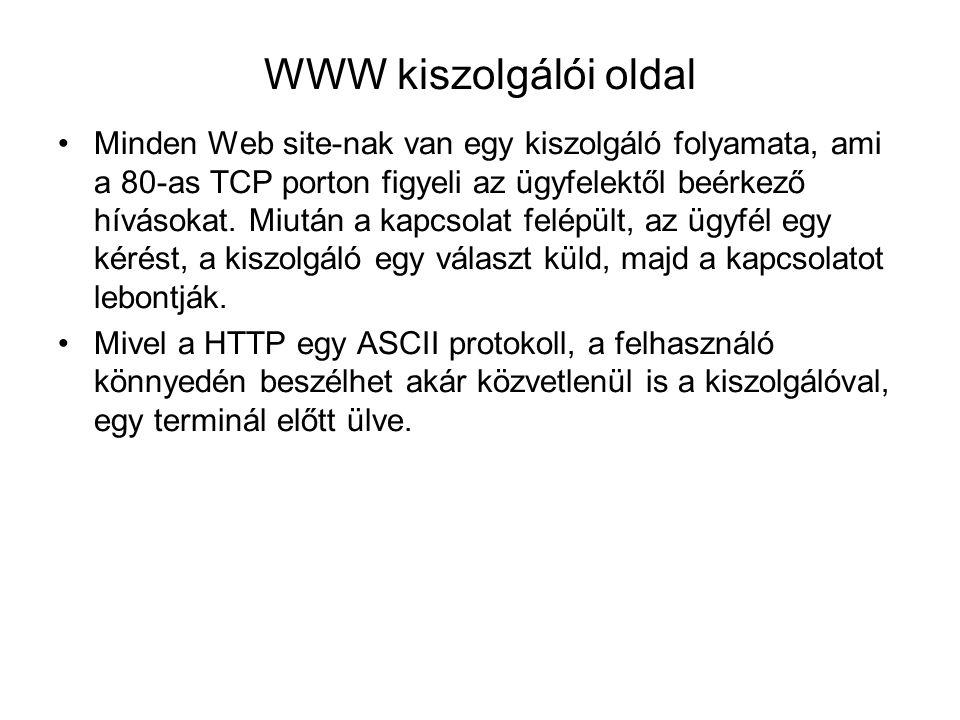 WWW kiszolgálói oldal