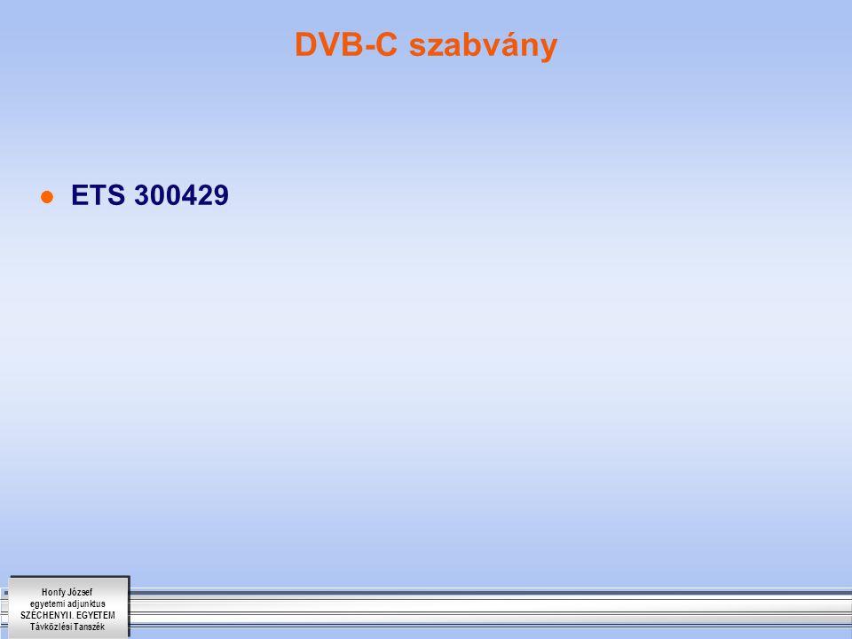 DVB-C szabvány ETS 300429