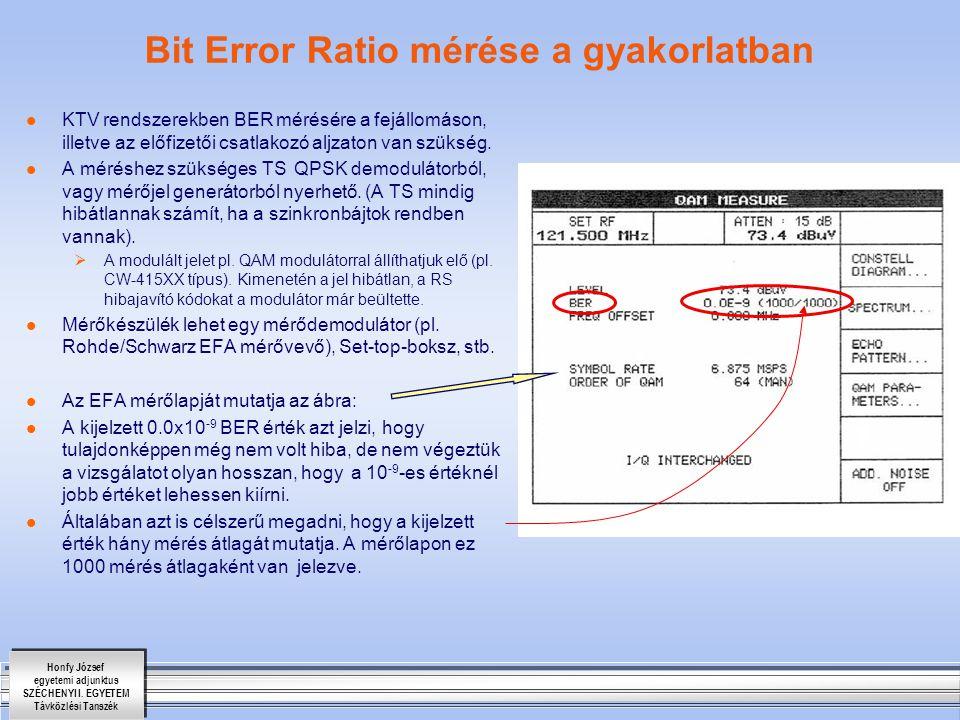 Bit Error Ratio mérése a gyakorlatban