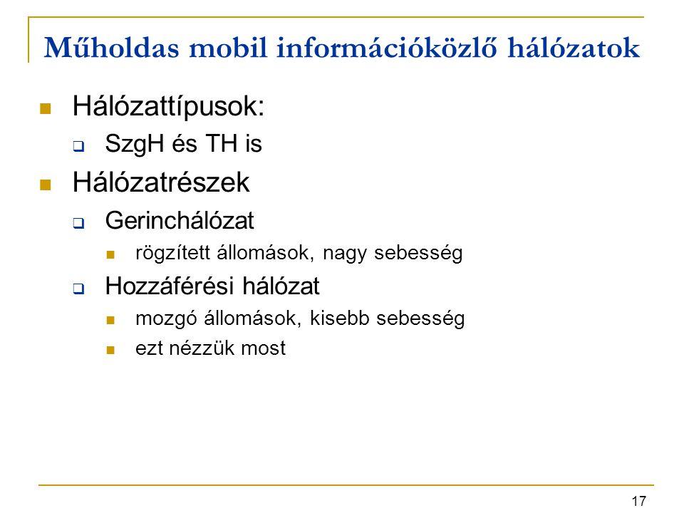 Műholdas mobil információközlő hálózatok
