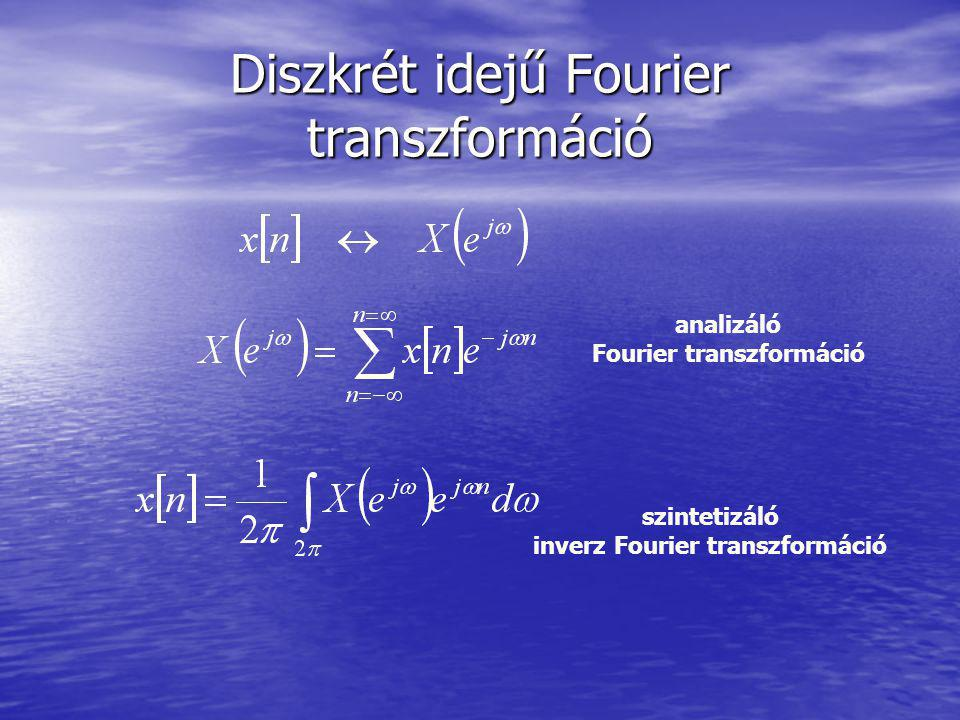 Diszkrét idejű Fourier transzformáció