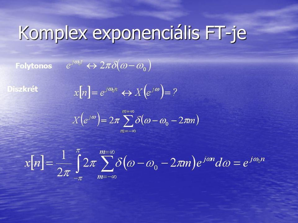 Komplex exponenciális FT-je