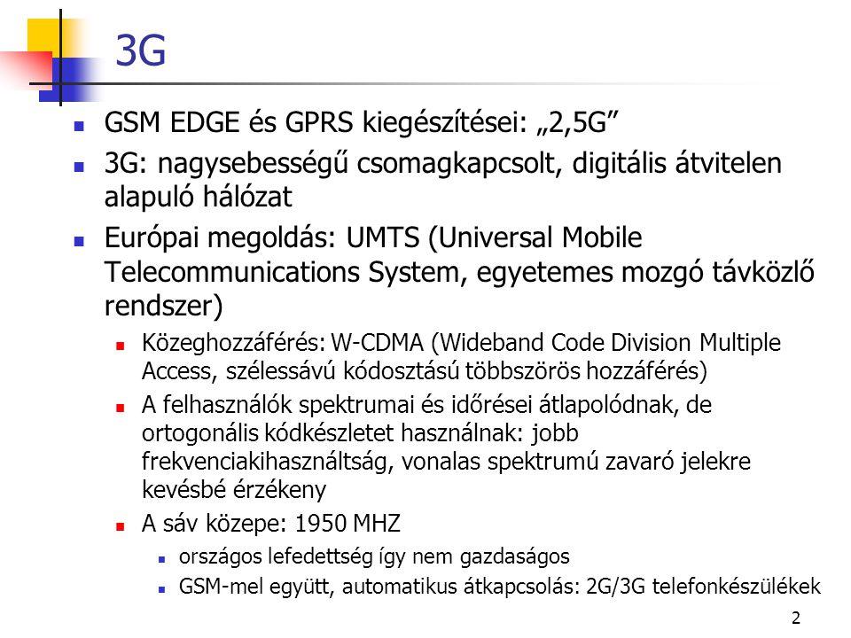 """3G GSM EDGE és GPRS kiegészítései: """"2,5G"""