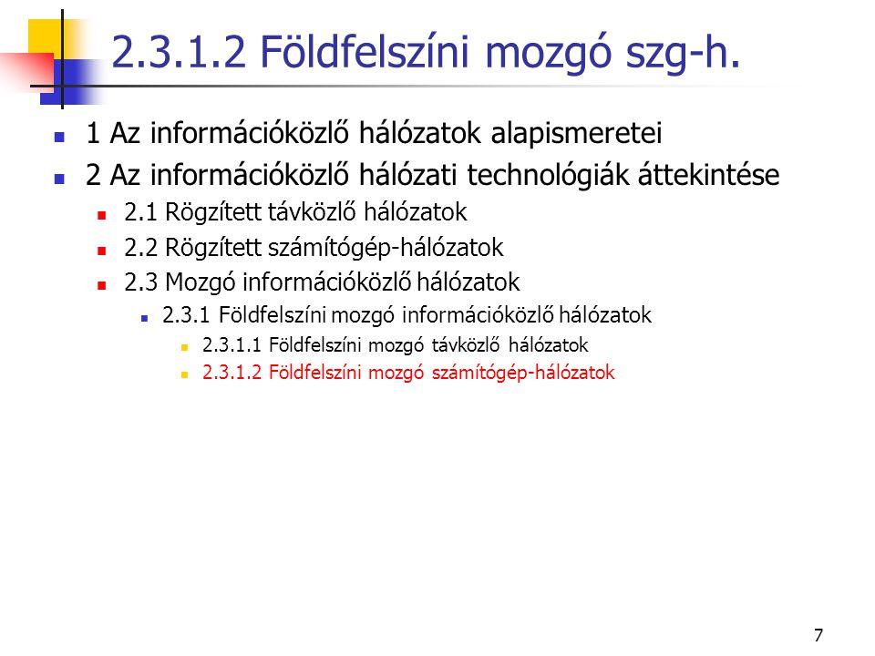 2.3.1.2 Földfelszíni mozgó szg-h.