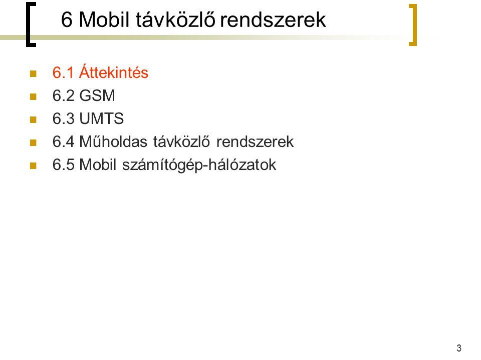 6 Mobil távközlő rendszerek