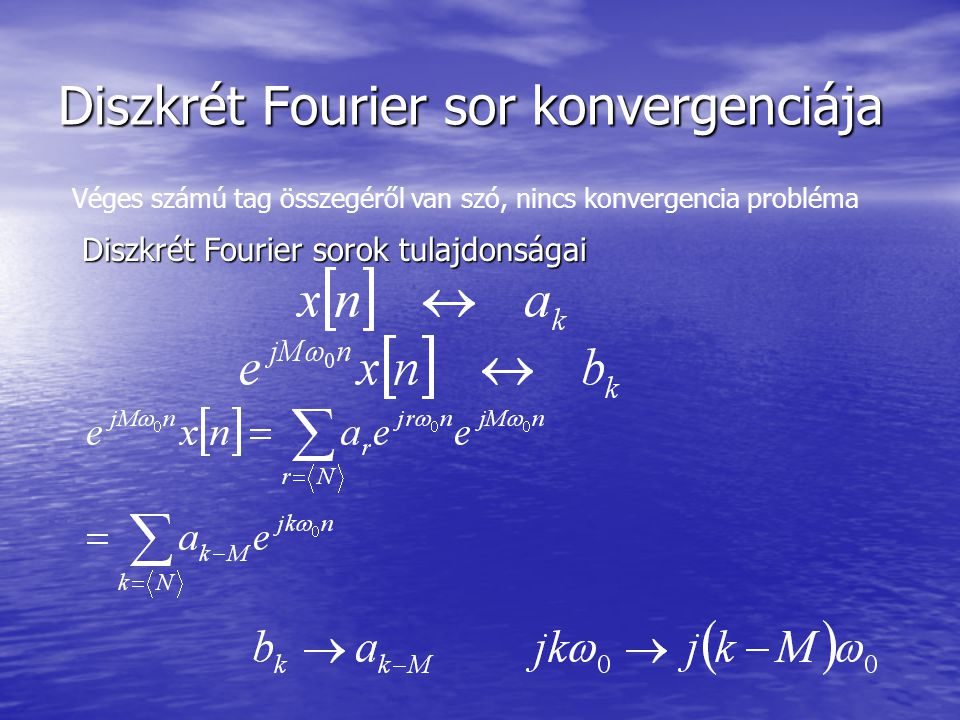 Diszkrét Fourier sor konvergenciája