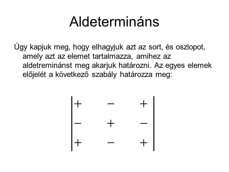 Aldetermináns