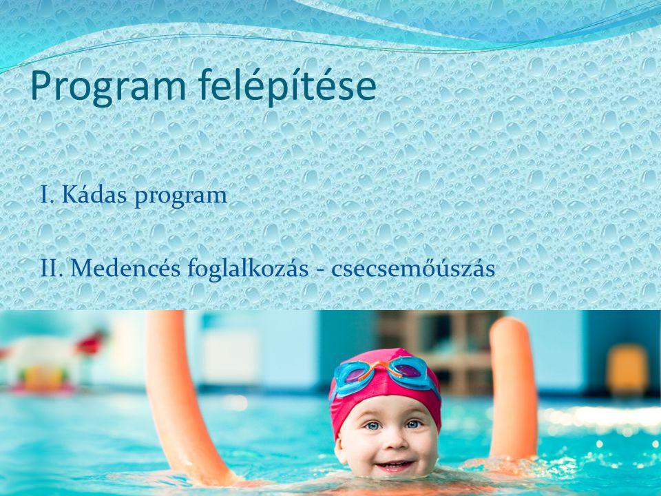 Program felépítése I. Kádas program
