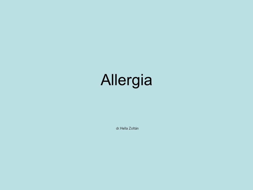 Allergia dr.Hella Zoltán