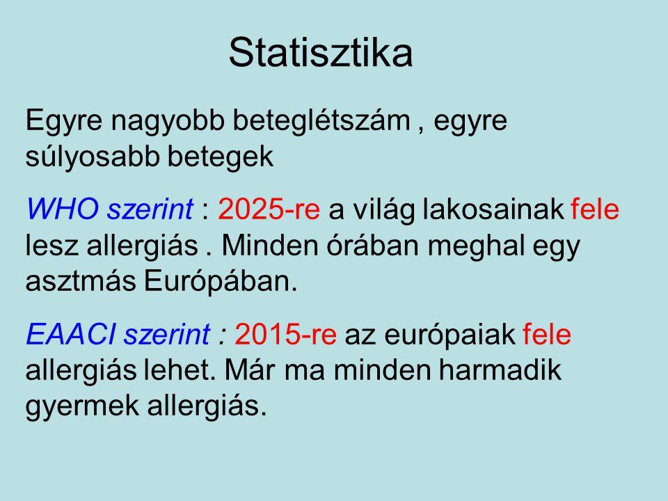 Statisztika Egyre nagyobb beteglétszám , egyre súlyosabb betegek