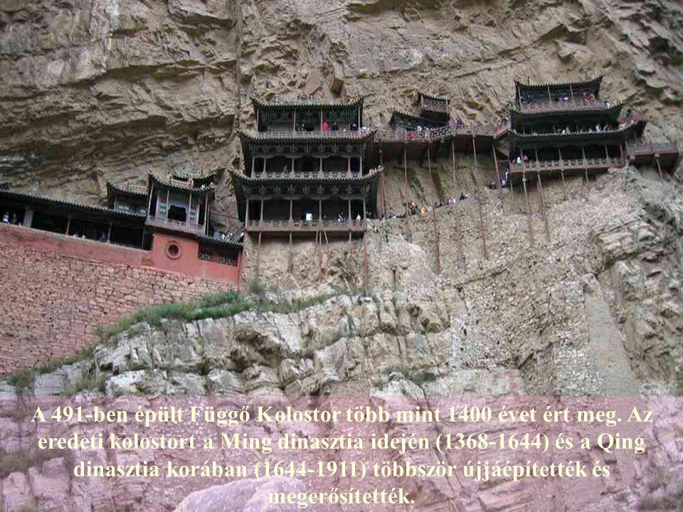 A 491-ben épült Függő Kolostor több mint 1400 évet ért meg