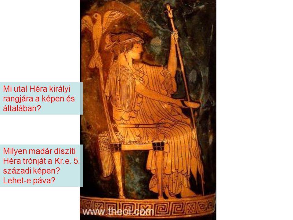 Mi utal Héra királyi rangjára a képen és általában
