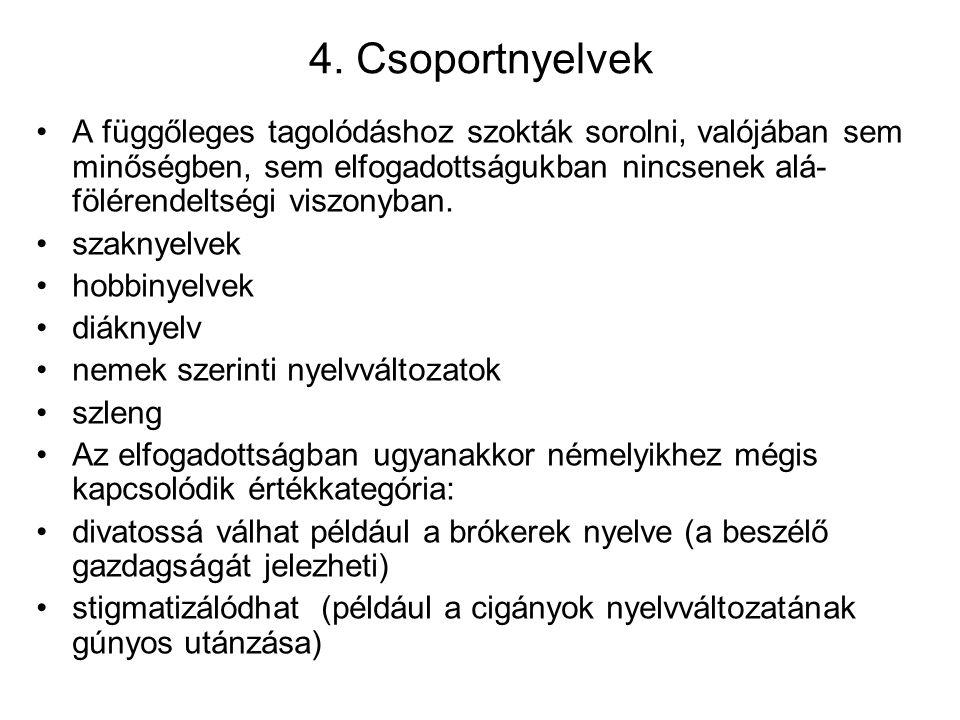 4. Csoportnyelvek