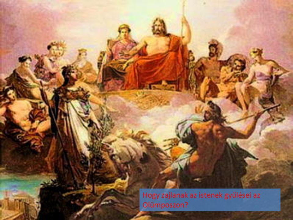 Hogy zajlanak az istenek gyűlései az Olümposzon
