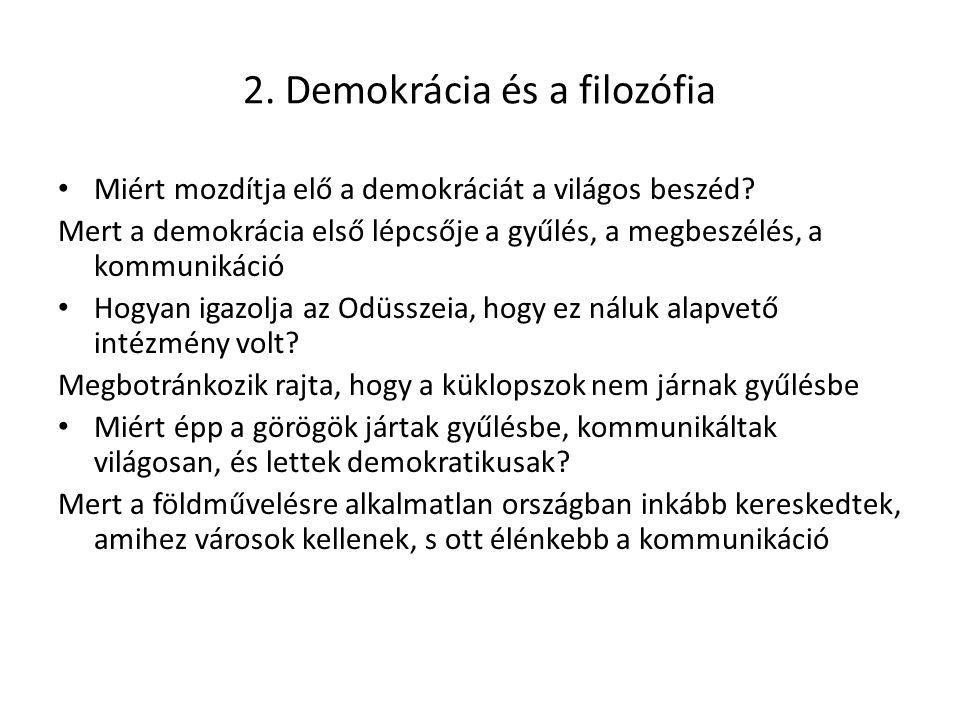 2. Demokrácia és a filozófia