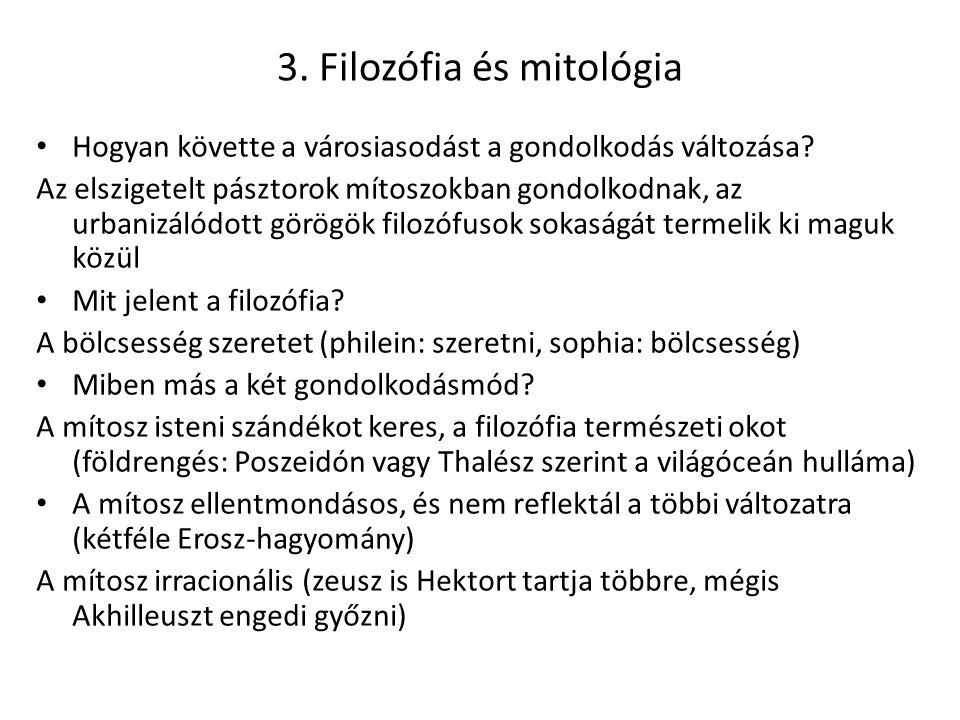 3. Filozófia és mitológia