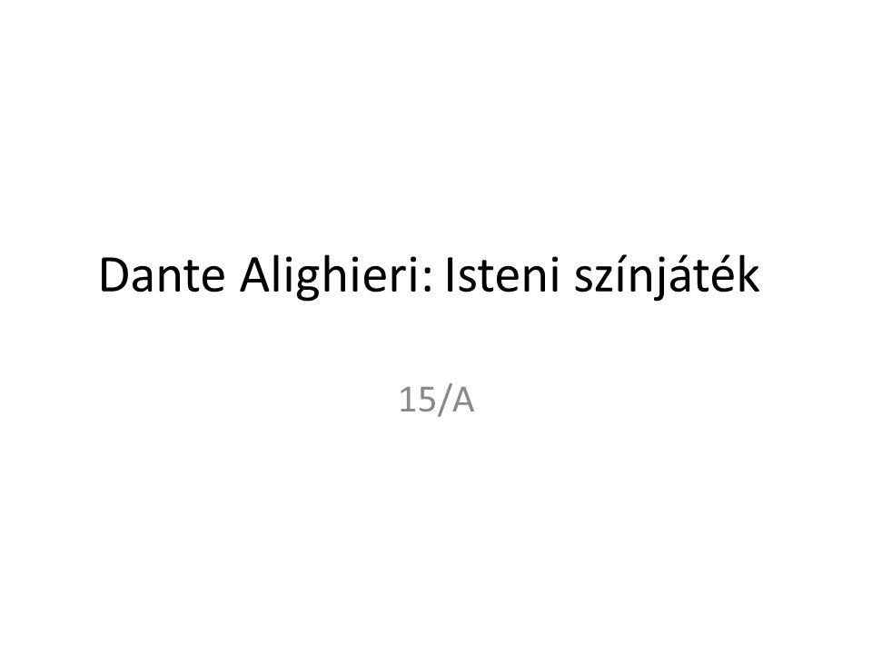 Dante Alighieri: Isteni színjáték