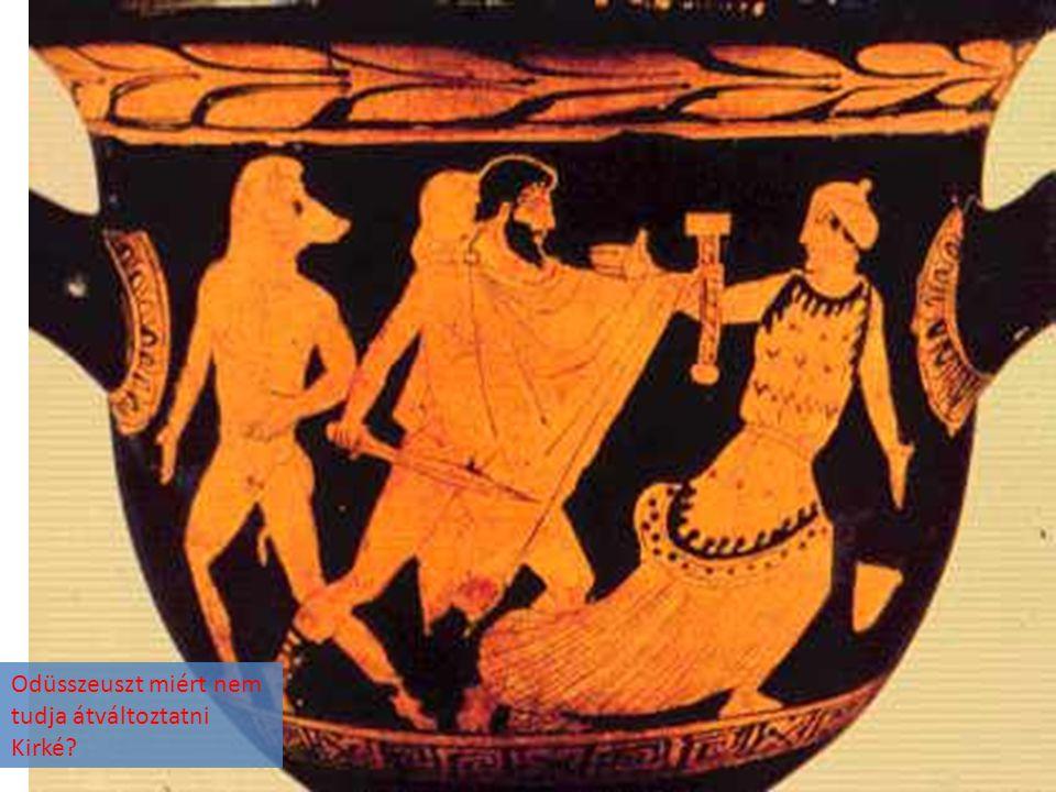 Odüsszeuszt miért nem tudja átváltoztatni Kirké