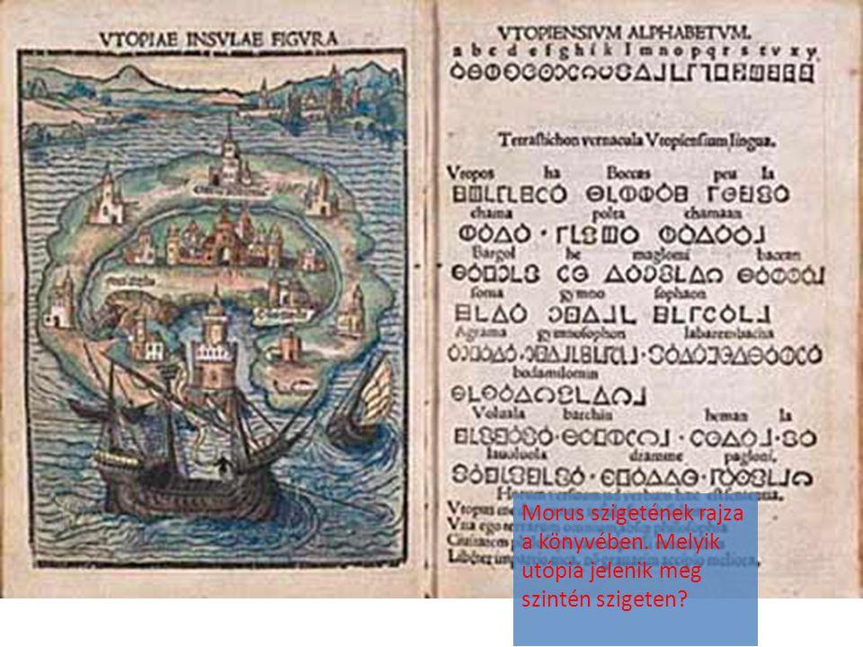 Morus szigetének rajza a könyvében