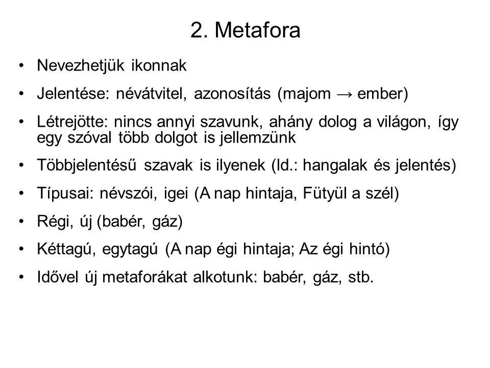 2. Metafora Nevezhetjük ikonnak