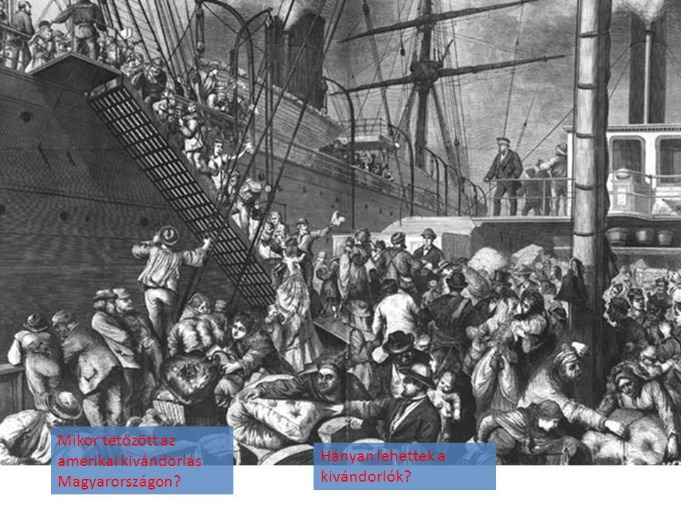 Mikor tetőzött az amerikai kivándorlás Magyarországon
