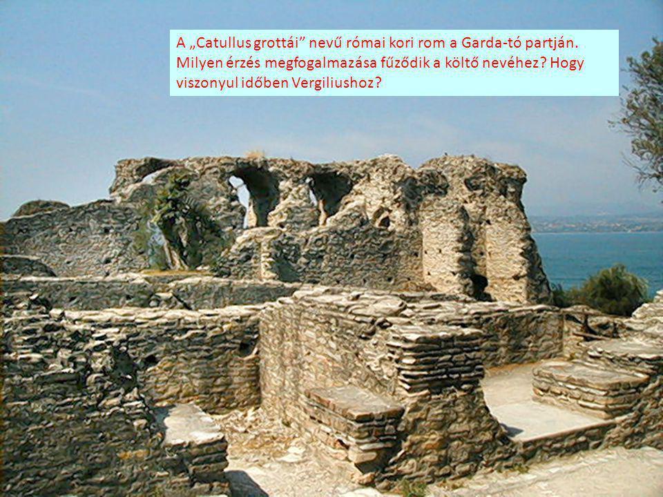 """A """"Catullus grottái nevű római kori rom a Garda-tó partján"""