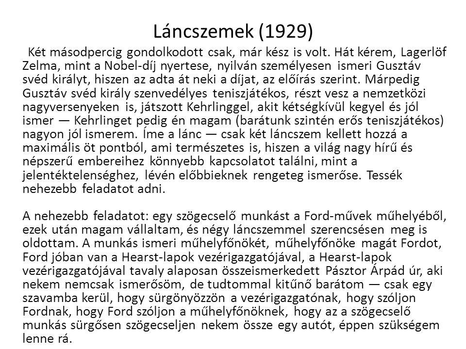 Láncszemek (1929)