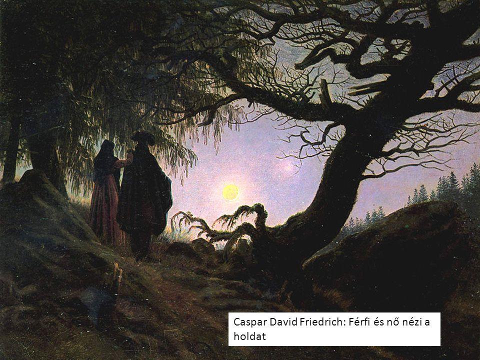 Caspar David Friedrich: Férfi és nő nézi a holdat