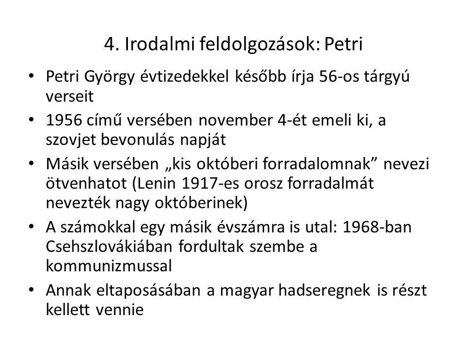 4. Irodalmi feldolgozások: Petri