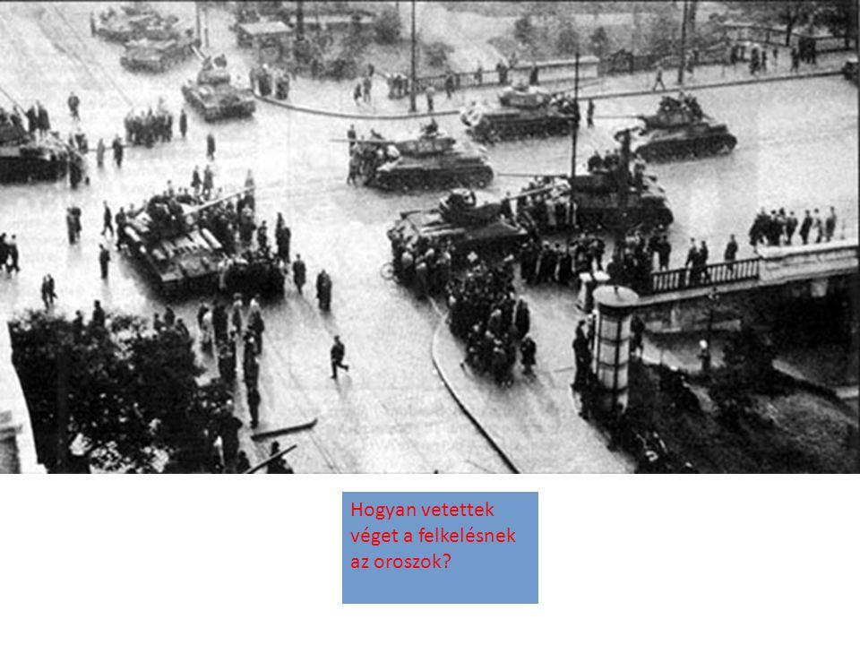 Hogyan vetettek véget a felkelésnek az oroszok