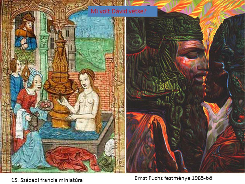 Mi volt Dávid vétke Ernst Fuchs festménye 1985-ből