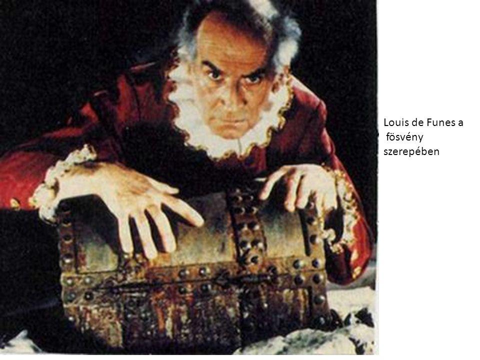 Louis de Funes a fösvény szerepében