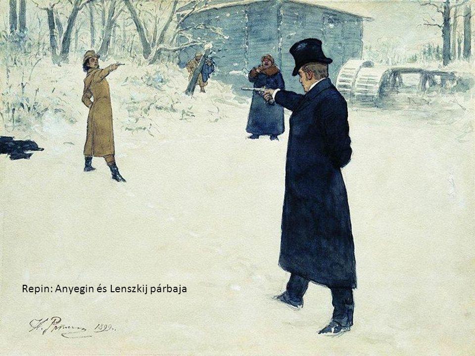 Repin: Anyegin és Lenszkij párbaja