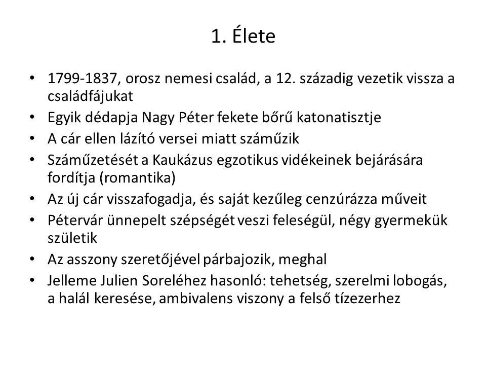 1. Élete 1799-1837, orosz nemesi család, a 12. századig vezetik vissza a családfájukat. Egyik dédapja Nagy Péter fekete bőrű katonatisztje.