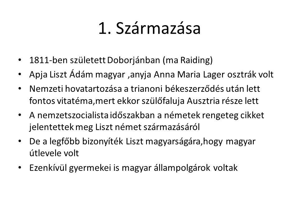 1. Származása 1811-ben született Doborjánban (ma Raiding)