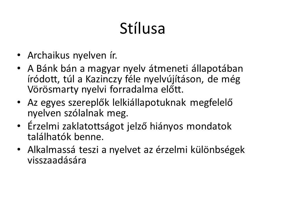 Stílusa Archaikus nyelven ír.