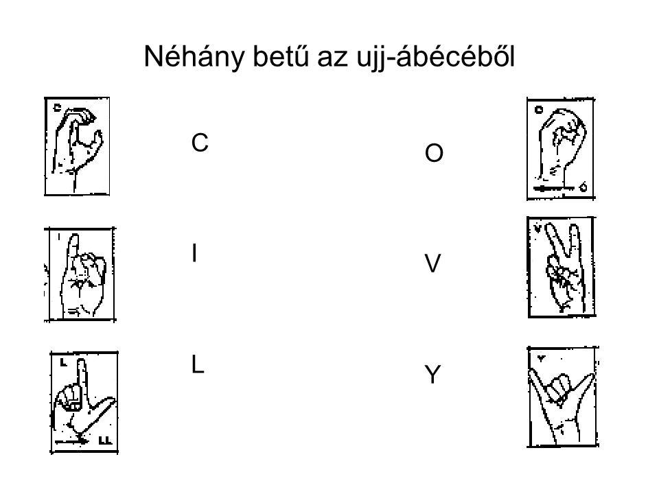 Néhány betű az ujj-ábécéből