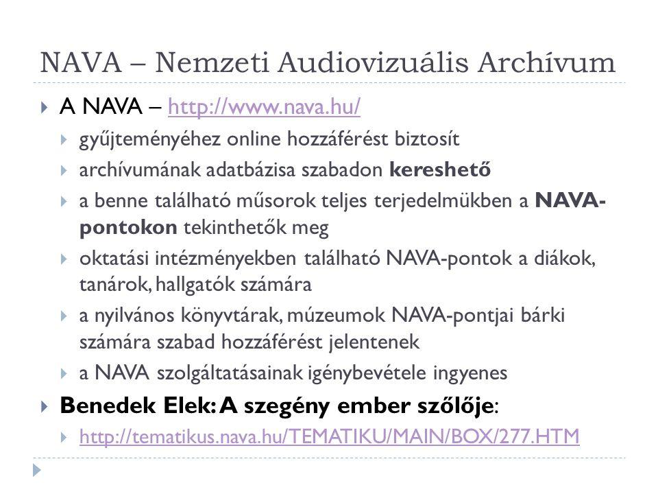 NAVA – Nemzeti Audiovizuális Archívum