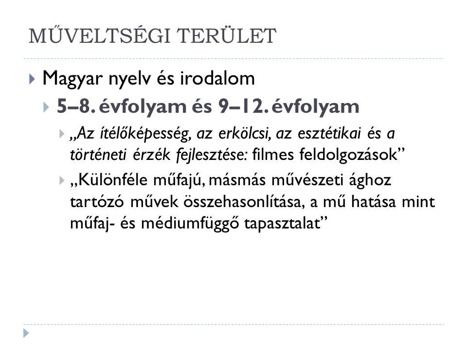 Magyar nyelv és irodalom 5–8. évfolyam és 9–12. évfolyam