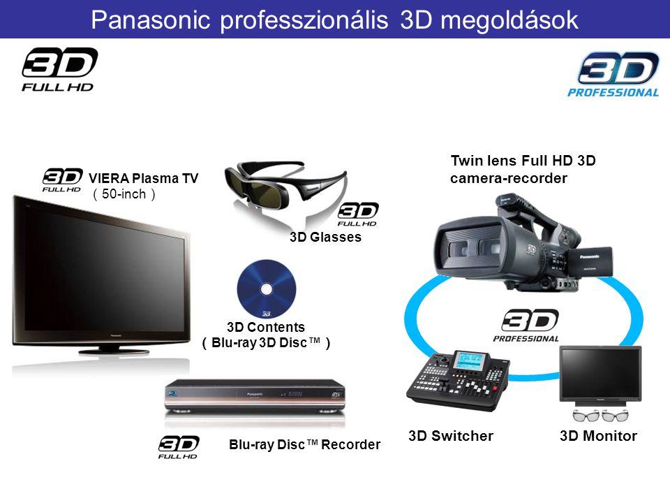 Panasonic professzionális 3D megoldások
