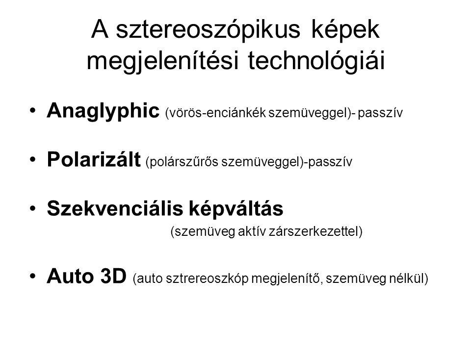 A sztereoszópikus képek megjelenítési technológiái