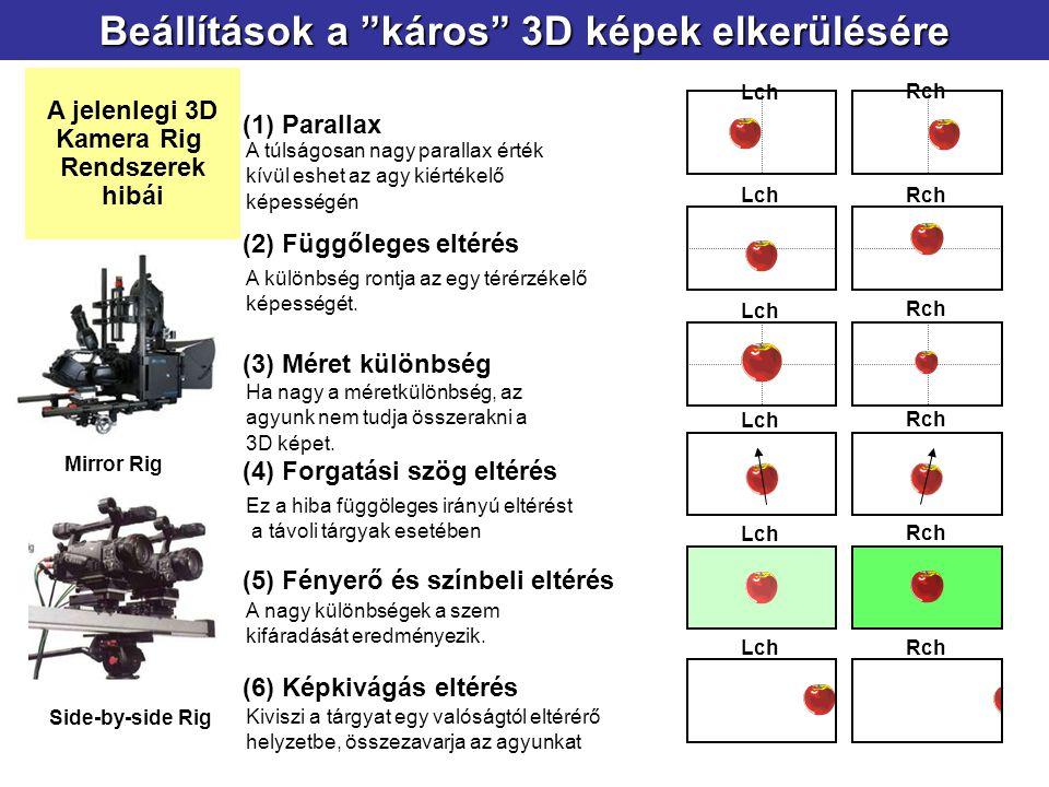 Beállítások a káros 3D képek elkerülésére