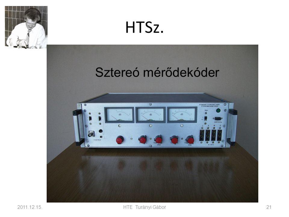 HTSz. Sztereó mérődekóder 2011.12.15. HTE Turányi Gábor