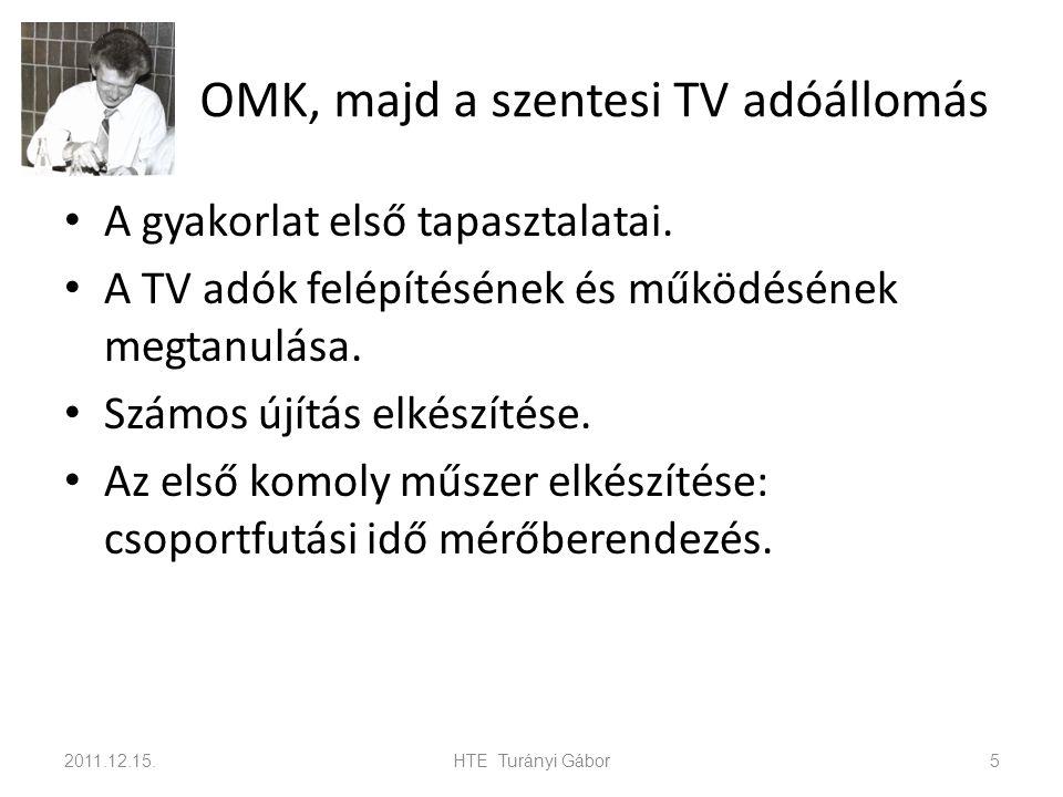 OMK, majd a szentesi TV adóállomás