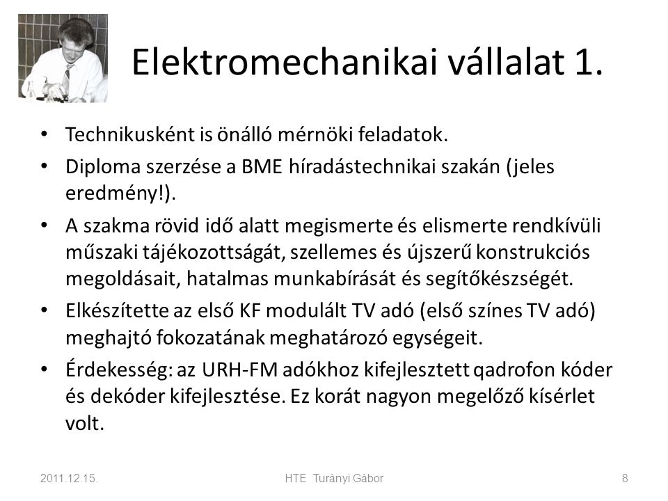Elektromechanikai vállalat 1.