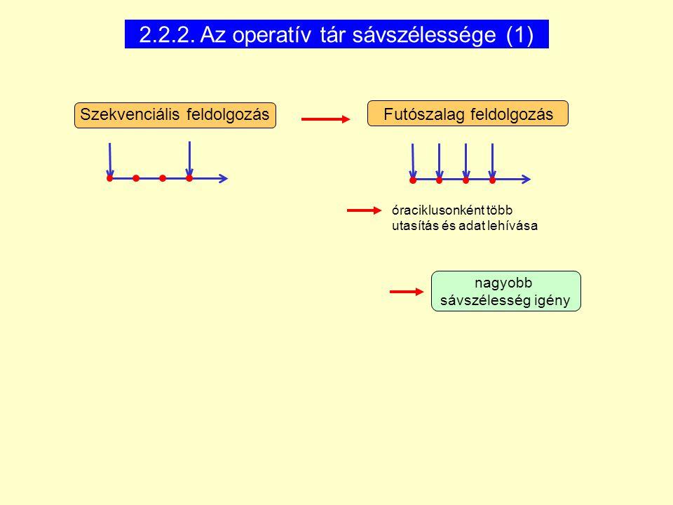 2.2.2. Az operatív tár sávszélessége (1)