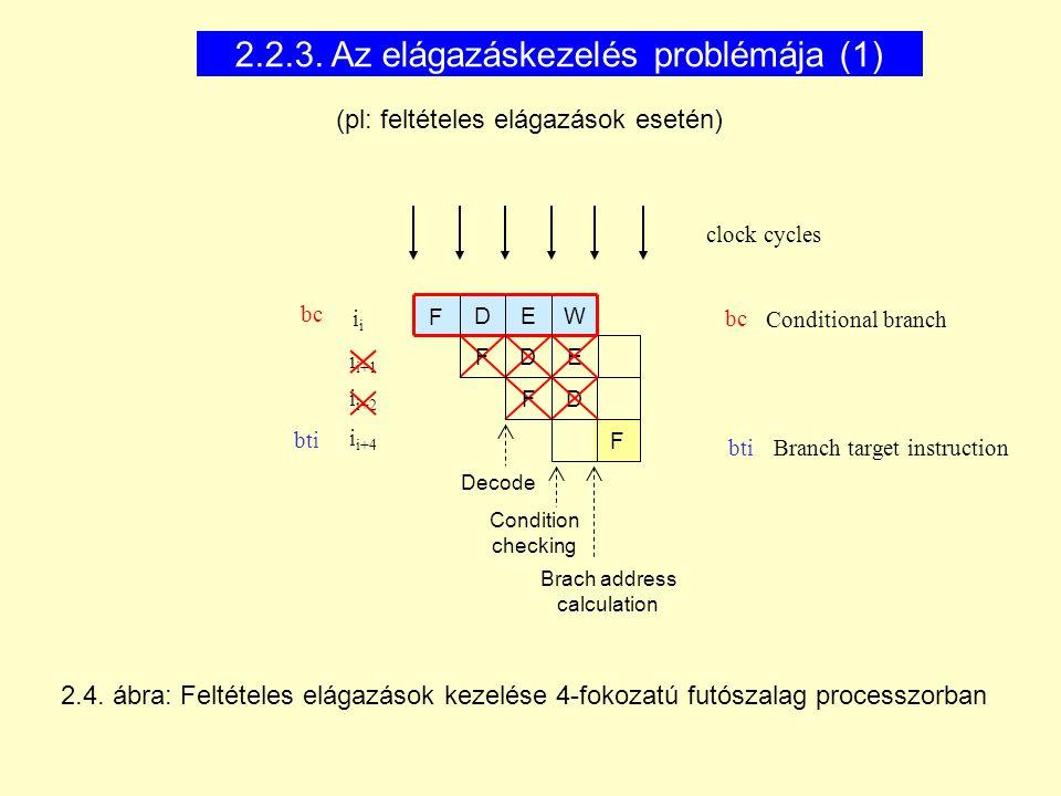 2.2.3. Az elágazáskezelés problémája (1)