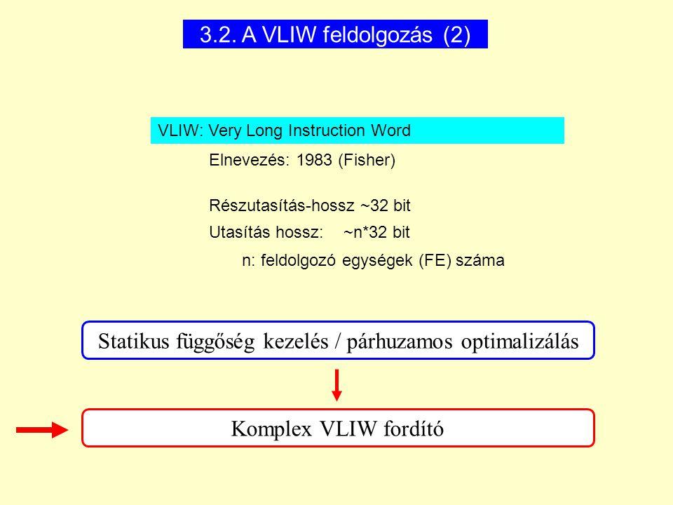 Statikus függőség kezelés / párhuzamos optimalizálás