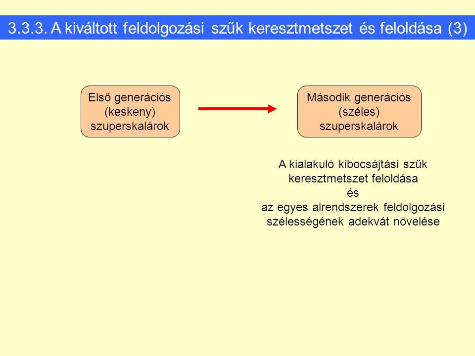 3.3.3. A kiváltott feldolgozási szűk keresztmetszet és feloldása (3)