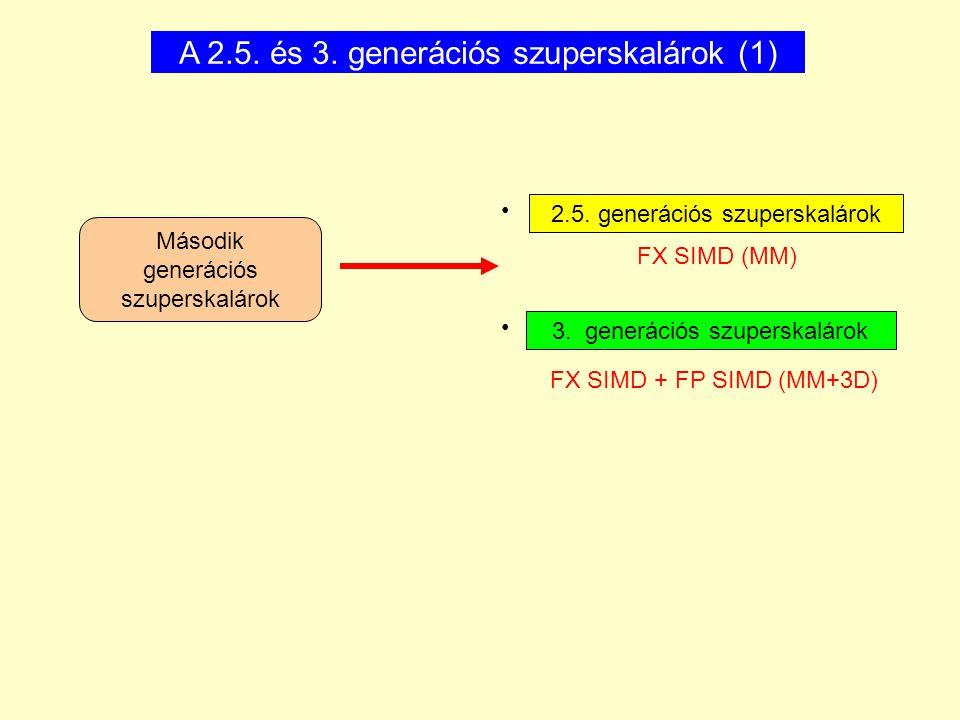 A 2.5. és 3. generációs szuperskalárok (1)